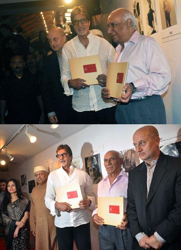Amitabh Bachchan, Yash Chopra and Anupam Kher