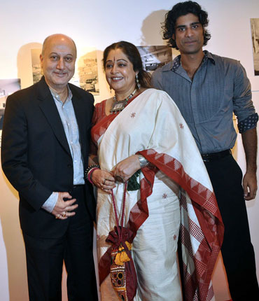 Anupam, wife Kirron and Sikandar