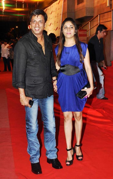 Madhur Bhandarkar and wife Renu