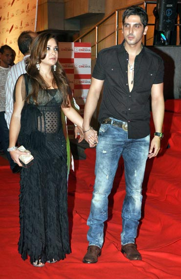 Zayed Khan and Mallika Khan