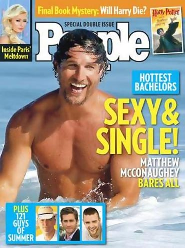 Matthew McConaughey on the cover of People magazine