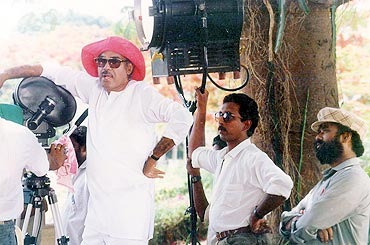 Ramanaidu on the sets
