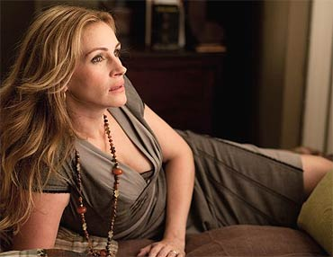 Julia Roberts in a scene from Eat Pray Love