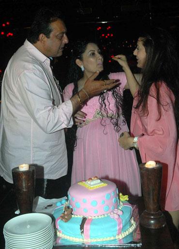 Sanjay Dutt, Manyata and Amisha Patel