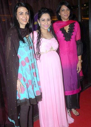 Namrata, Manyata and Priya Dutt