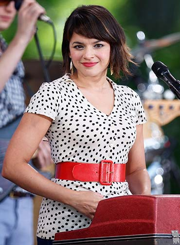 Norah Jones performs on ABC's Good Morning America in New York