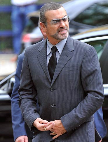 George Michael arrives at Highbury Corner Magistrates Court in London