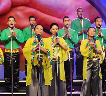 Members of The Shillong Chamber Choir