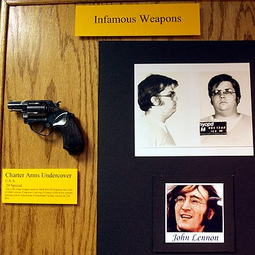The .38 calibre handgun used by Chapman to kill Lennon