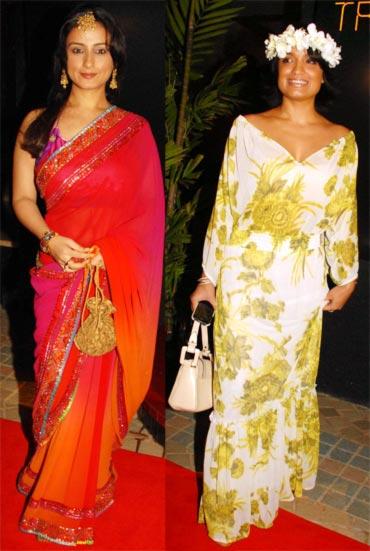 Divya Dutta and Sandhya Mrudul