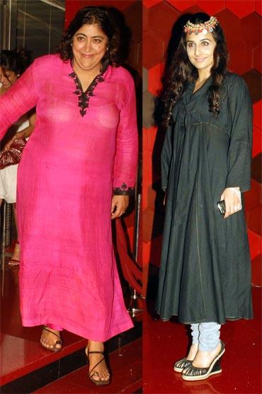 Gurinder Chadda and Vidya Balan