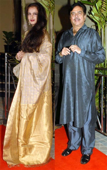 Rekha and Shatrughan Sinha