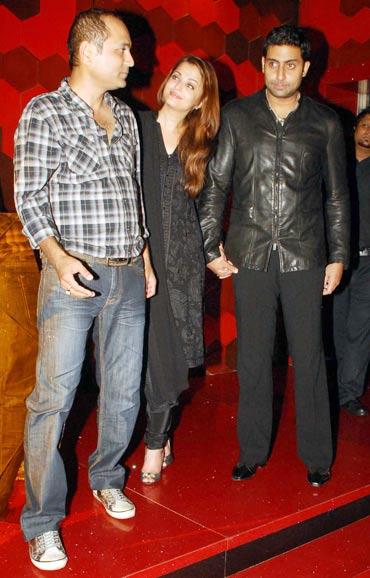 Vipul Shah, Aishwarya Rai and Abhishek Bachchan