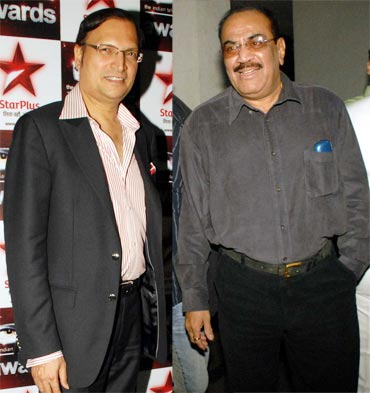 Rajat Sharma (Aaj Tak) and Shivaji Satam (CID)