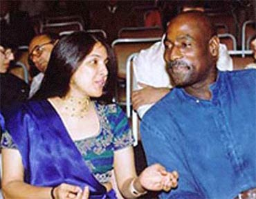 Neena Gupta and Sir Vivian Richards