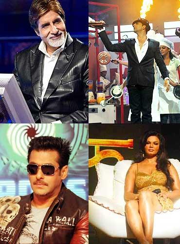 Amitabh Bachchan, Akshay Kumar, Salman Khan and Rakhi Sawant