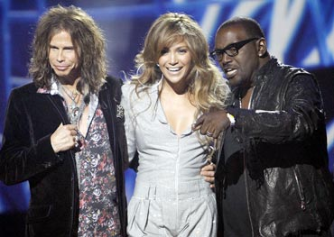 Stephen Tyler, Jennifer Lopez and Randy Jackson