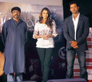 Sanjay Leela Bhansali, Aishwarya Rai Bachchan and Hrithik Roshan