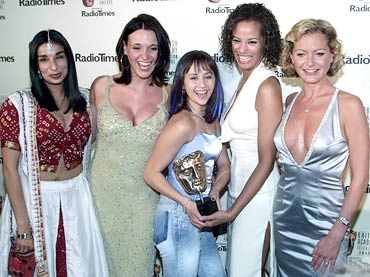 Shovna Gulati, Suranne Jones, Samia Ghadie, Naomi Russell and Tracey Shaw at the 2001 BAFTAs