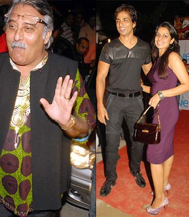 Vinod Khanna, Sonu Sood and wife Sonali