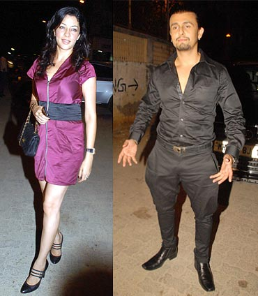 Aditi Gowitrikar and Sonu Nigam