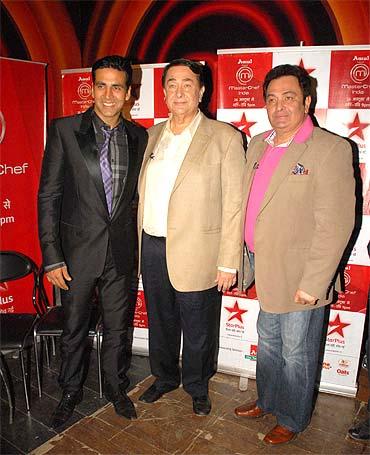 Akshay Kumar, Randhir Kapoor and Rishi Kapoor