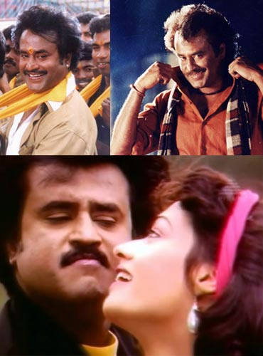 Scenes from Baasha, Mappillai and Thalapathi