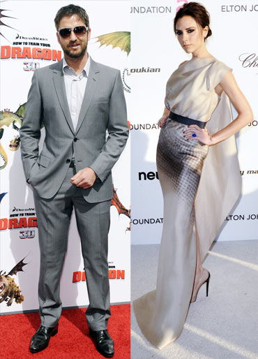 Gerard Butler and Victoria Beckham