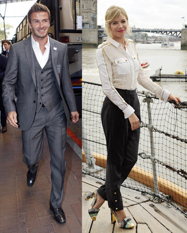 David Beckham and Sienna Miller
