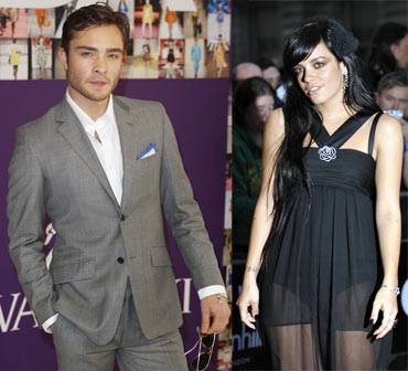 Ed Westwick and Lily Allen
