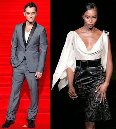 Jude Law and Naomi Campbell