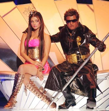 Aishwarya Rai Bachchan and Rajnikanth