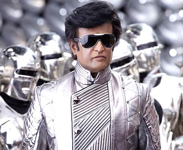 Rajni in silver
