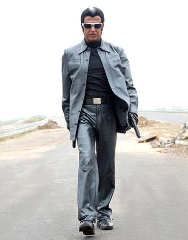 Rajni in black