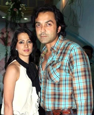 Tania and Bobby Deol