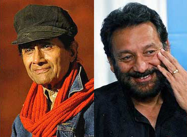 Dev Anand and Shekhar Kapur