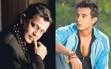Mithun Chakraborty and Daebuu Banerjee