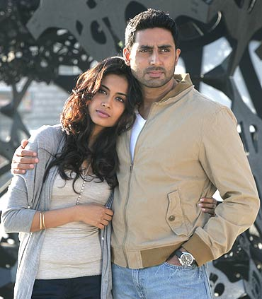 Sarah Jane Dias and Abhishek Bachchan in Game