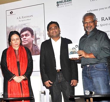 Nasreen Munni Kabir, A R Rahman and Mani Ratnam