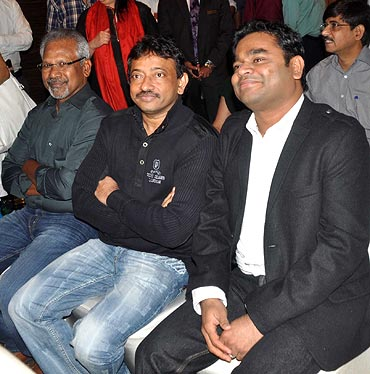 Mani Ratnam, Ram Gopal Varma and A R Rahman