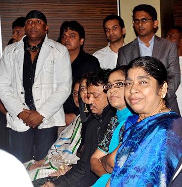 Shivmani, Rahman's wife Saira, Ram Gopal Varma, Rahman's sister Raihanah and mother Kareema