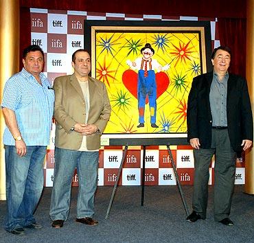 Rishi Kapoor, Rajiv Kapoor and Randhir Kapoor
