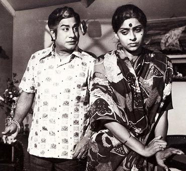 Sujatha with Sivaji Ganesan