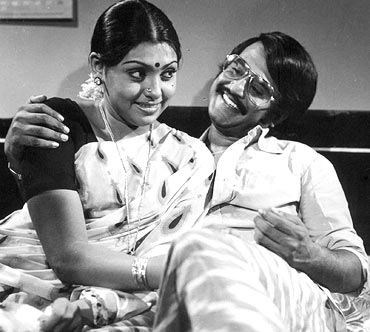 Sujatha with Rajnikanth