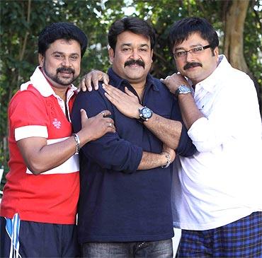 Dileep, Mohanlal and Jayram