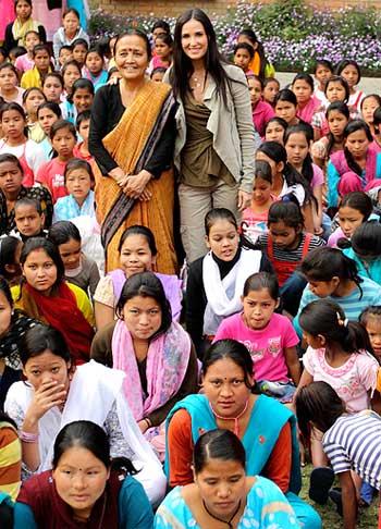 Demi Moore at Maiti Nepal