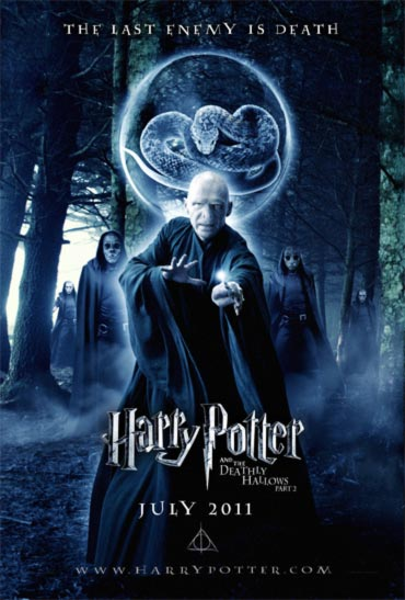 A movie poster of Harry Potter and the Deathly HAllows Part II