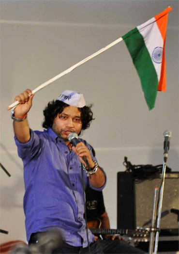 Kailash Kher at Azad Maidan