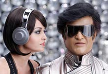 Aishwarya Rai Bachchan and Rajnikanth in Robot