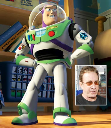 Buzz Lightyear and Tim Allen (inset)